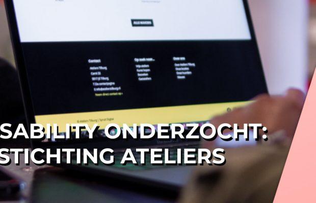 Usability website onderzoek Stichting Ateliers